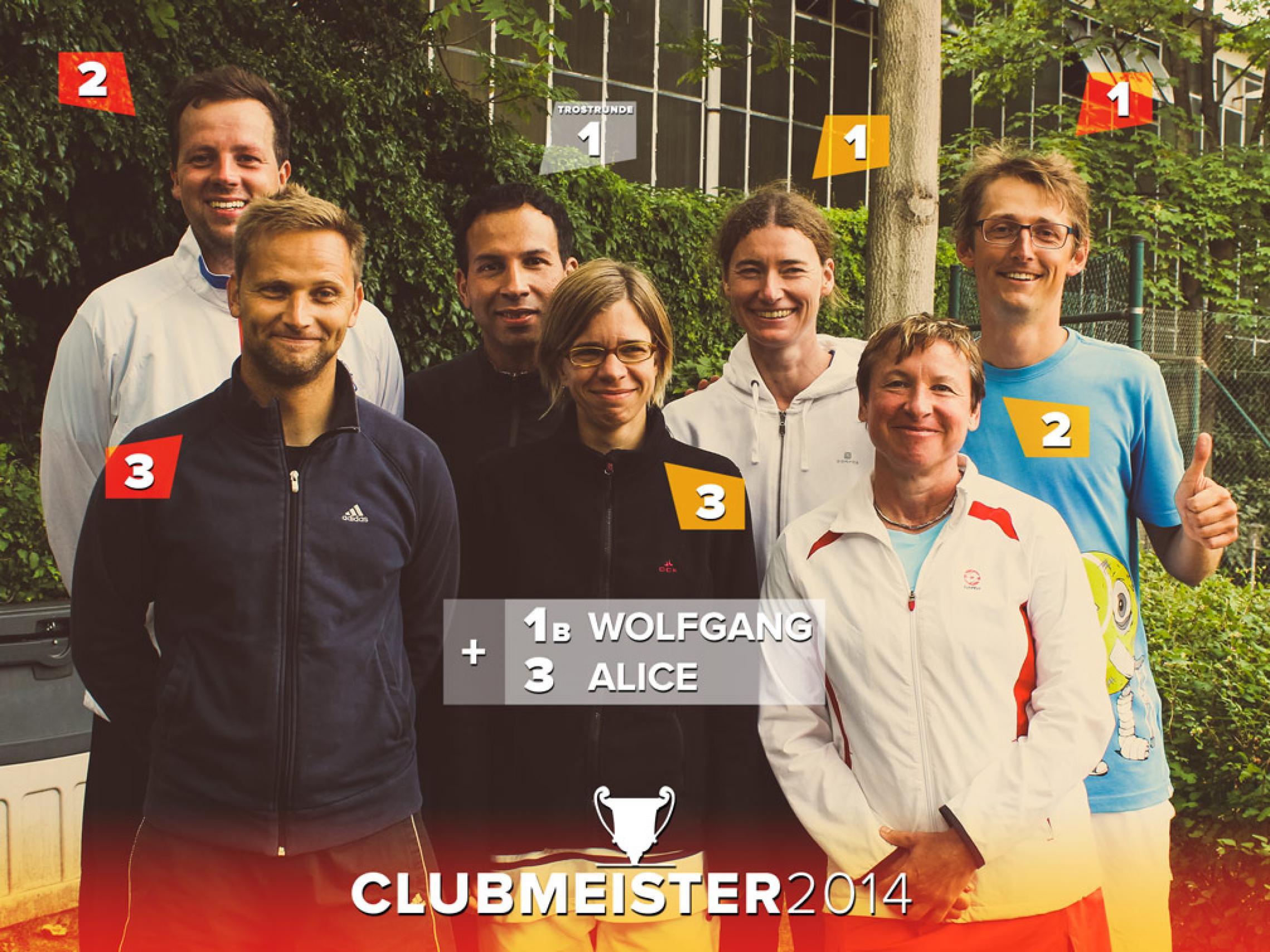 Sieger der Clubmeisterschaften 2014 | TC Grün - Gold Pankow e.V.